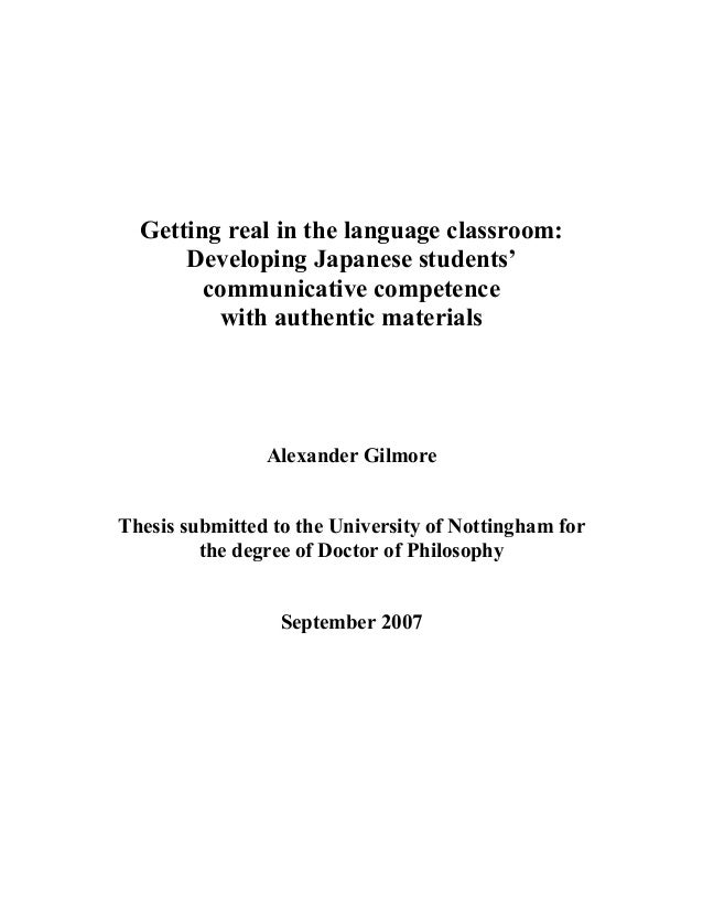 Getting real in the language classroom: Developing Japanese students' communicative competence with authentic materials Al...