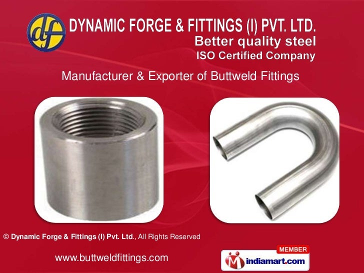Manufacturer & Exporter of Buttweld Fittings<br />