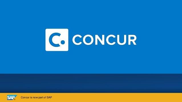 Concur is now part of SAP