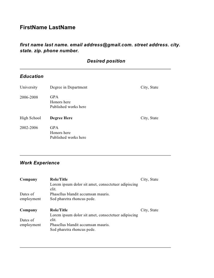 copy brief template - copy of resume student theme