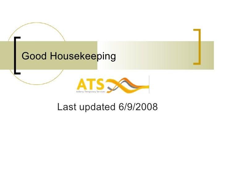 Good Housekeeping Last updated 6/9/2008
