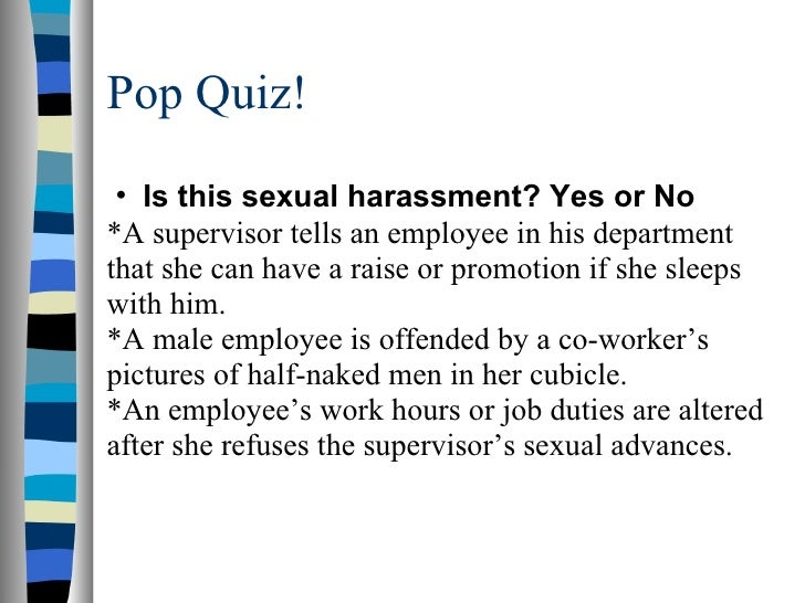 Types sexual harassment ppt slides