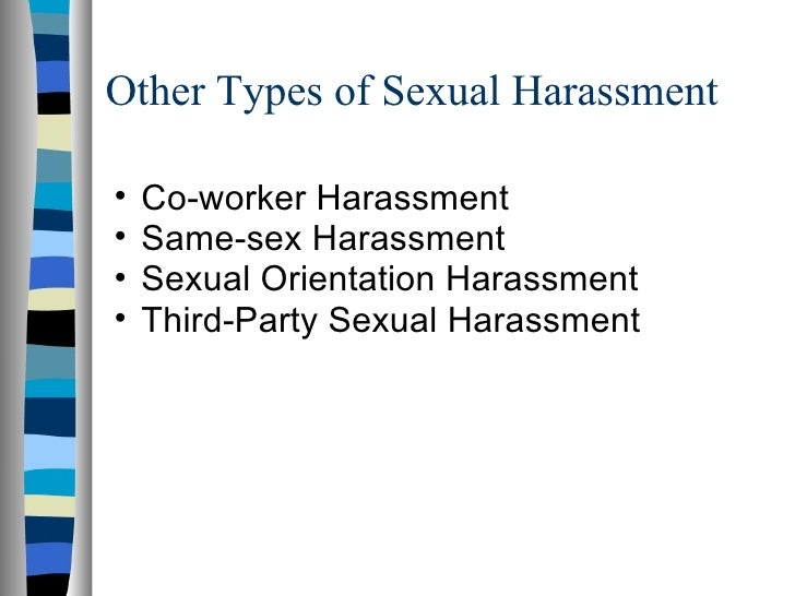 Types of sexual harassment in india
