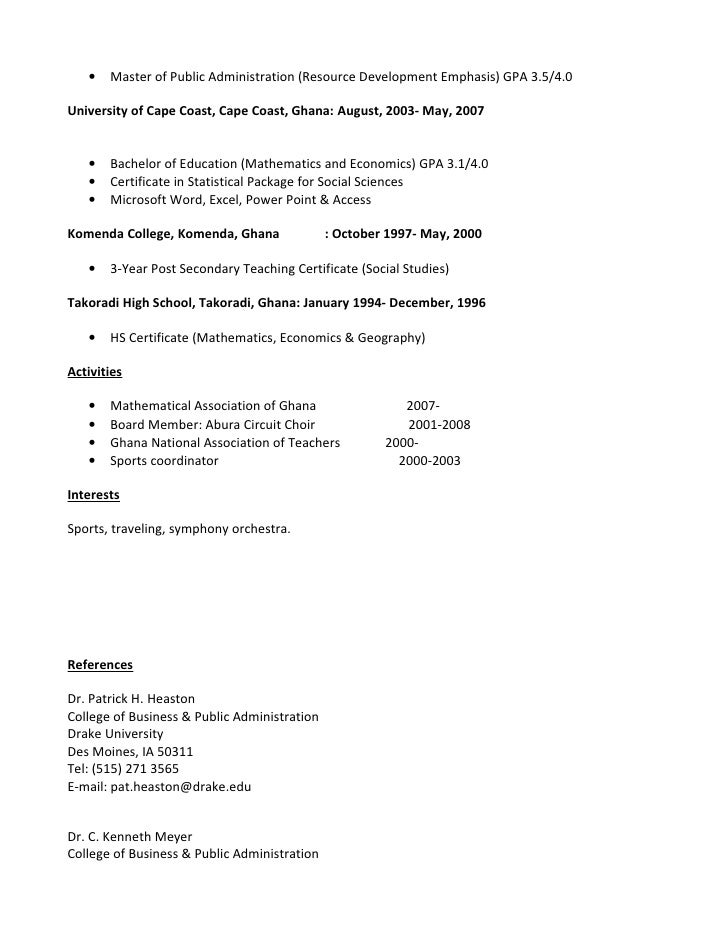 Awesome Public School Administrator Resume