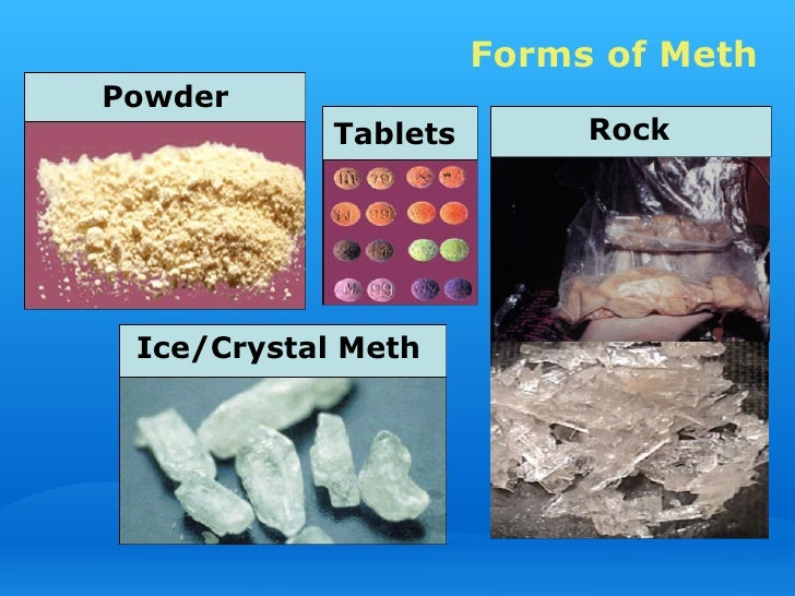 Forms Of Meth - Image Copyright SlideShareCdn.Com