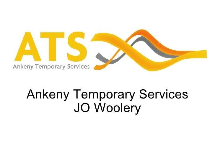 Ankeny Temporary Services JO Woolery