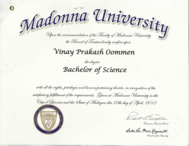 MADONNA UNIVERSITY B.Sc Degree