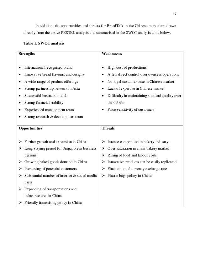 breadtalk pestle analysis