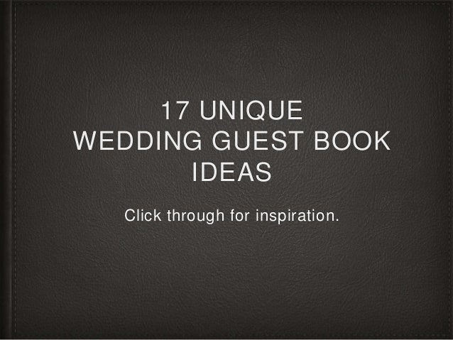 17 Alternative Wedding Guest Book Ideas