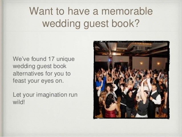 17 Alternative Wedding Guest Book Ideas