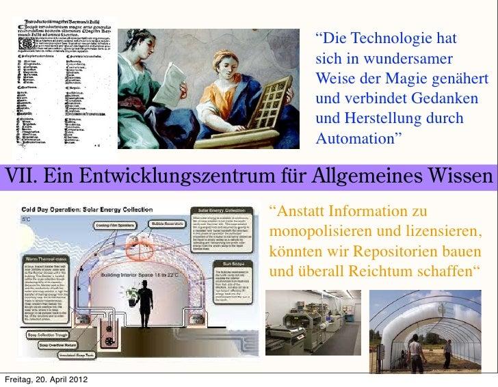 """""""Die Technologie hat                                 sich in wundersamer                                 Weise der Magie g..."""