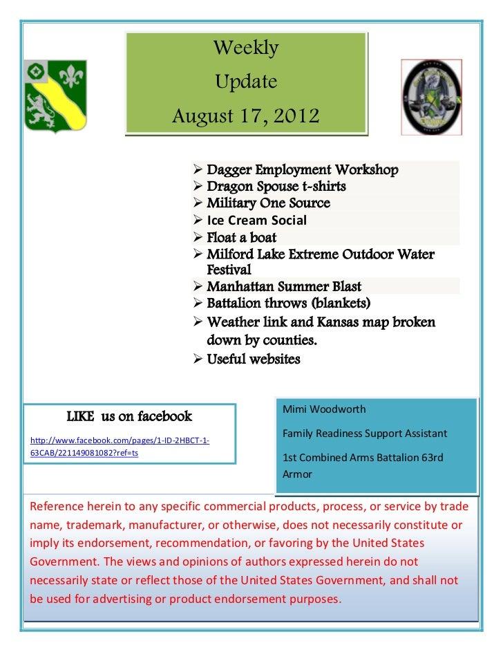 Weekly                                              Update                                 August 17, 2012                ...