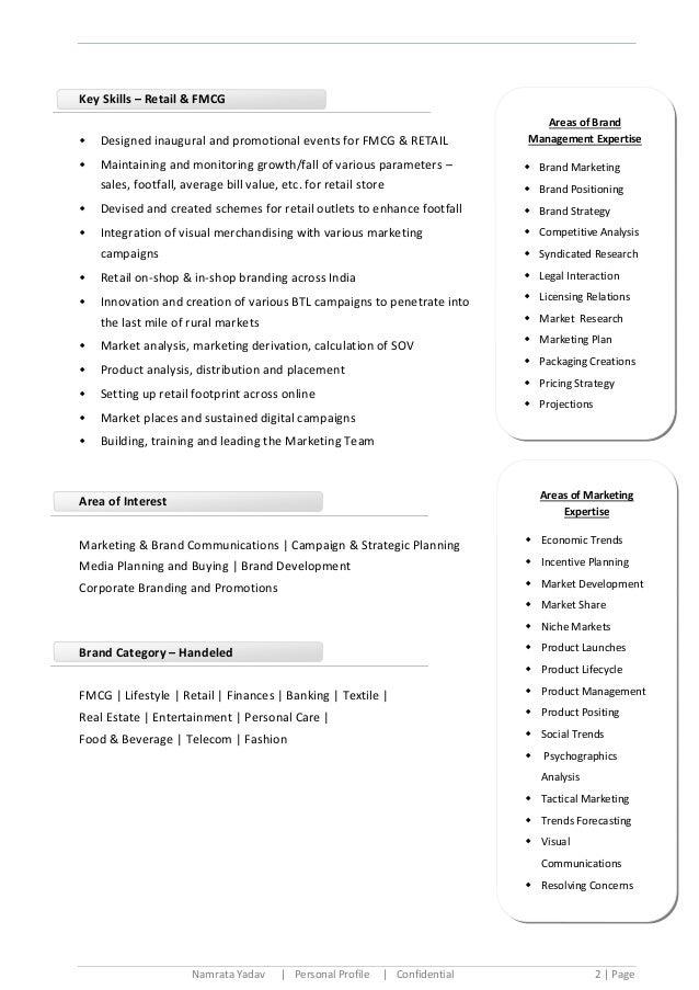 cv key qualifications