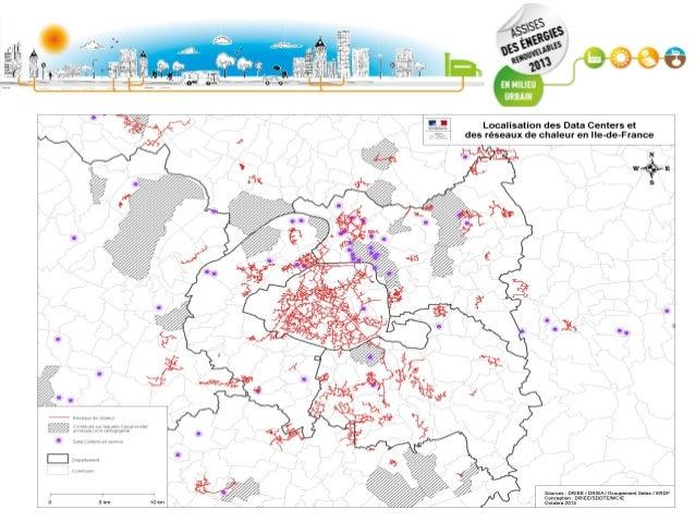 Prévisions de croissance des data-centers en Ile-de-France (source ERDF) Puissance électrique souscrite en 2013 : 260 MW E...