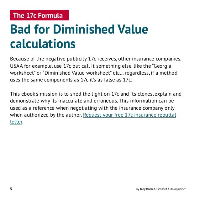 17c Formula - Bad for Diminished Value Calculations