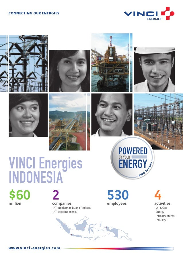 CONNECTing our eNERGIES BY YOUR VINCI Energies www.vinci-energies.com VINCI Energies Indonesia $60million 4activities • Oi...