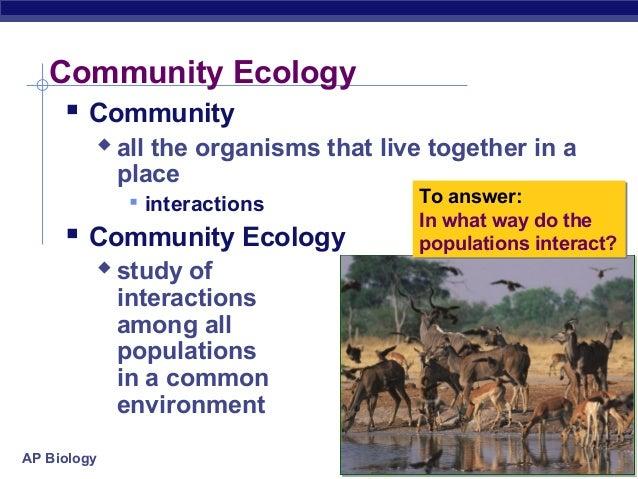 Chapter 54 community ecology worksheet answers