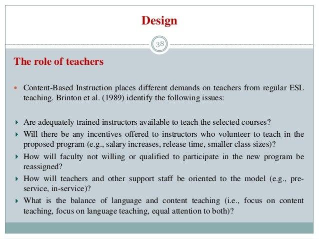 37 38 design the role of teachers - Esl Teacher Duties