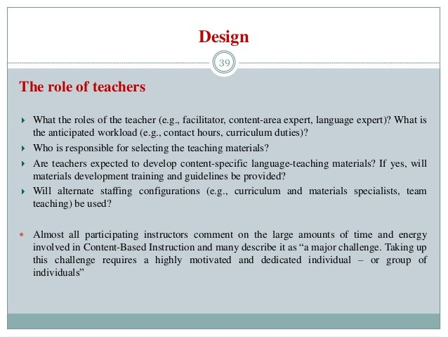 discuss the importance of teaching method to a teacher