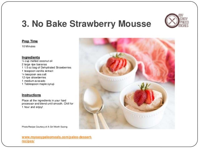 Dessert Recipes Using A Food Processor