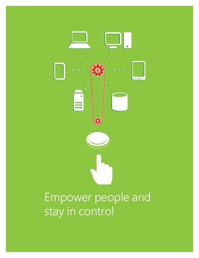 1 Empower people and stay in control