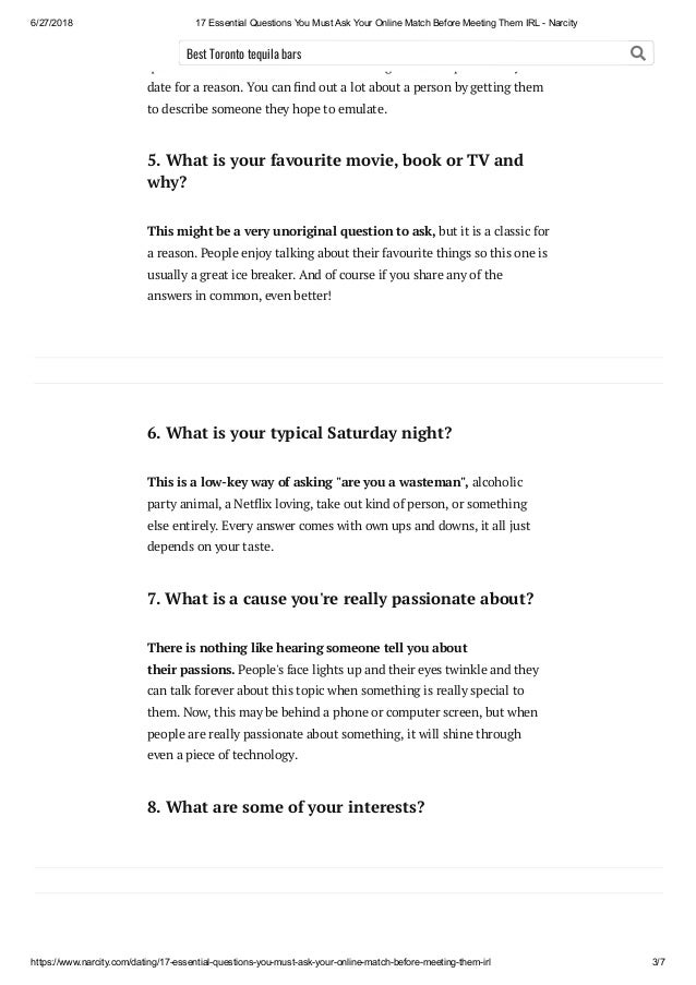 online dating questions to ask him before meeting