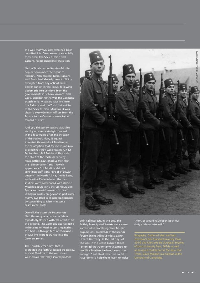 15 the war, many Muslims who had been recruited into German units, especially those from the Soviet Union and Balkans, fac...