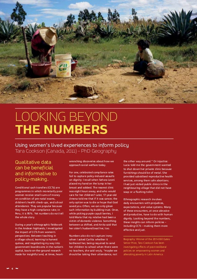 Qualitative data can be beneficial and informative to policy-making. Conditional cash transfers (CCTs) are programmes in w...