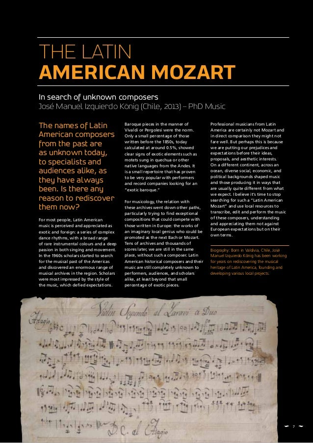 The names of Latin American composers from the past are as unknown today, to specialists and audiences alike, as they have...