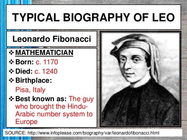 leonardo fibonacci born