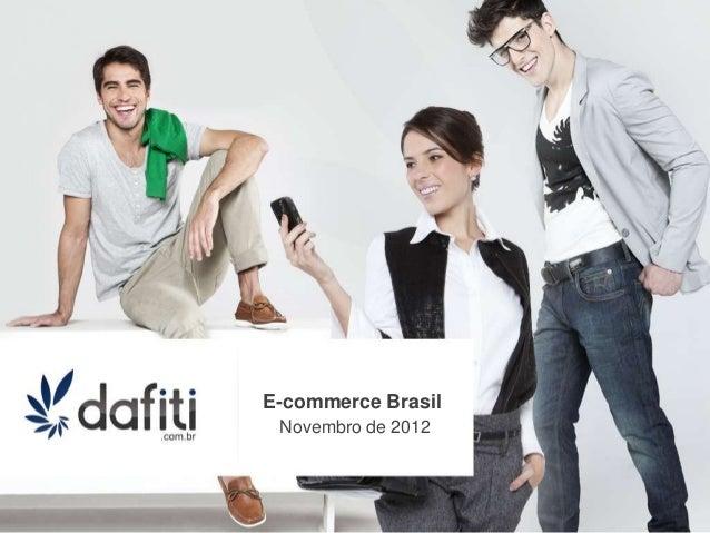 E-commerce Brasil Novembro de 2012