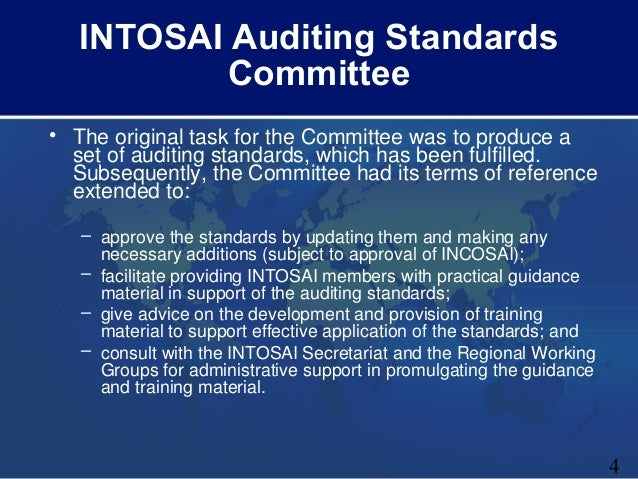 intosai auditing standards Psc intosai professional standards committee issais for adoption at incosai 2016 • revised issais (due for adoption at incosai 2016) -issai 30: code of ethics -issai 3000: performance audit standard.