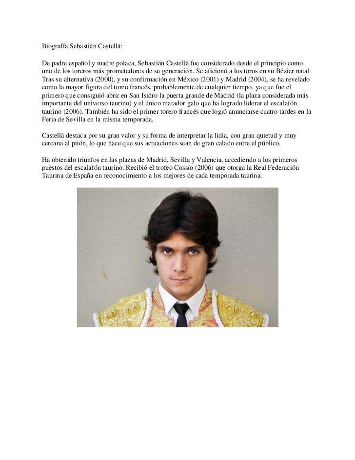 Biografía Sebastián Castellá:De padre español y madre polaca, Sebastián Castellá fue considerado desde el principio comoun...