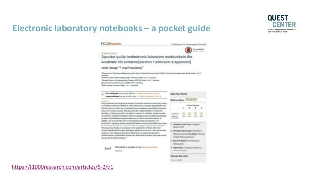 Using electronic laboratory notebooks in the academic life sciences: …