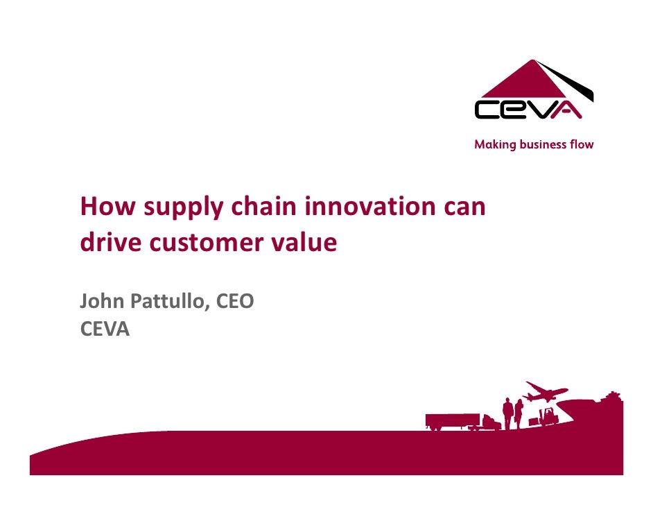 John Pattullo, CEVA Logistics on 'How Supply Chain Innovation Can Dri…