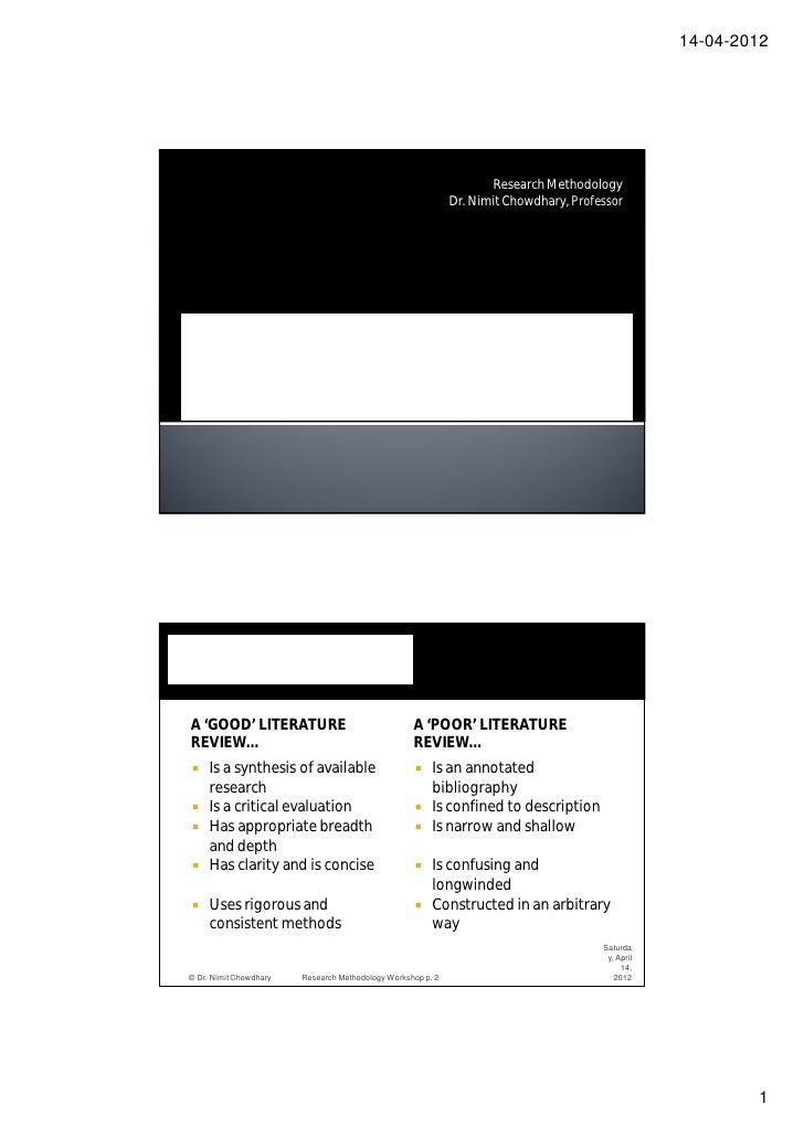 14-04-2012                                                                    Research Methodology                        ...