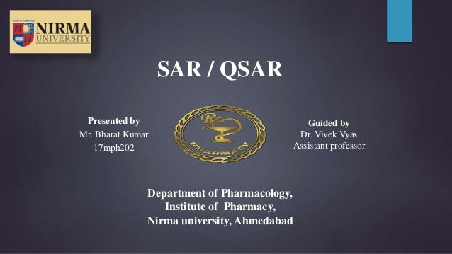 Presented by Mr. Bharat Kumar 17mph202 Guided by Dr. Vivek Vyas Assistant professor Department of Pharmacology, Institute ...