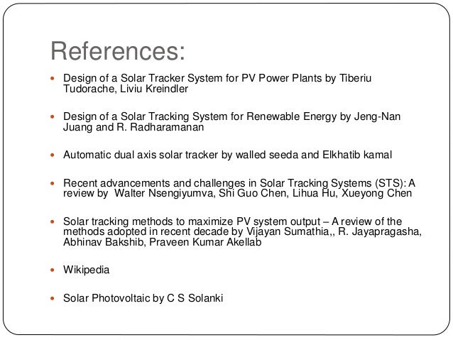 17 mse012 solar tracking system