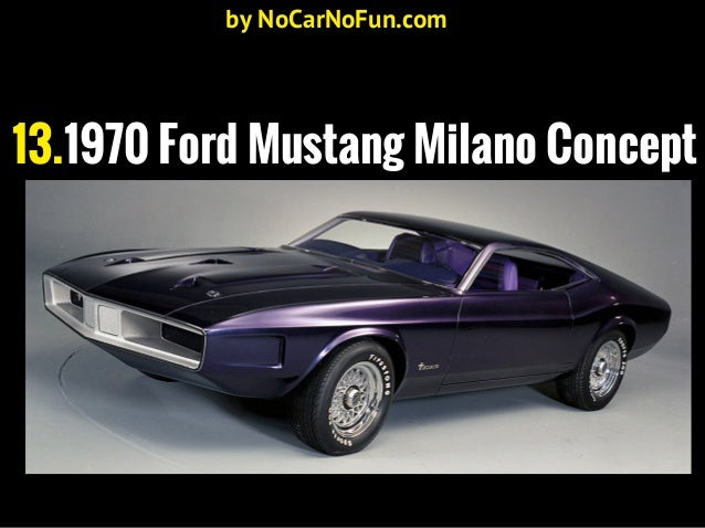 17 Mustangs That Never Got Produced