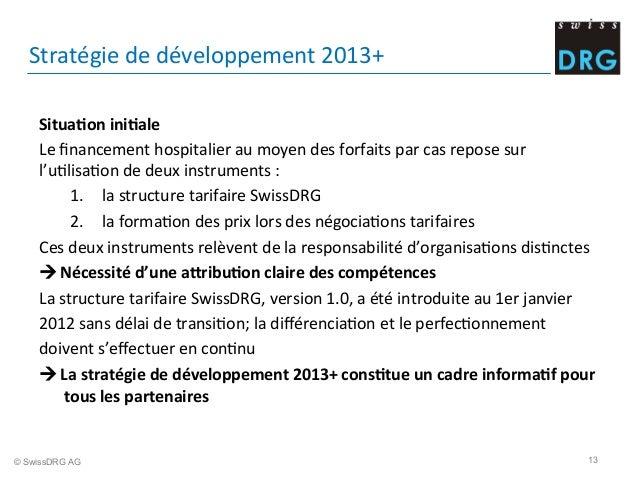 Stratégie  de  développement  2013+     Situa;on  ini;ale     Le  financement  hospitalier  au  moy...