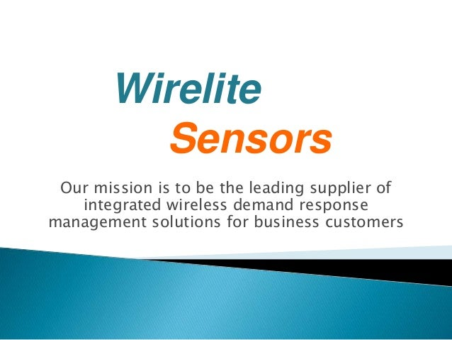 Our mission is to be the leading supplier of integrated wireless demand response management solutions for business custome...