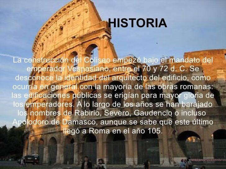 Presentación Coliseo Roma