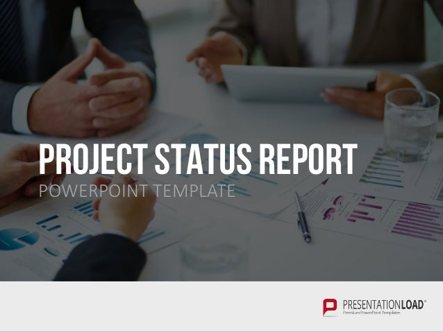project status report ppt slide template