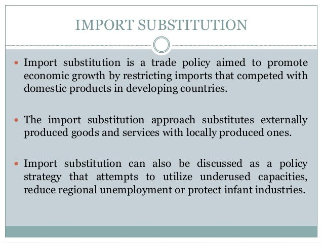 import substitution industries isi Other articles where import substitution is discussed: the principal industries are food processing, textiles, brewing, and cigarette production.