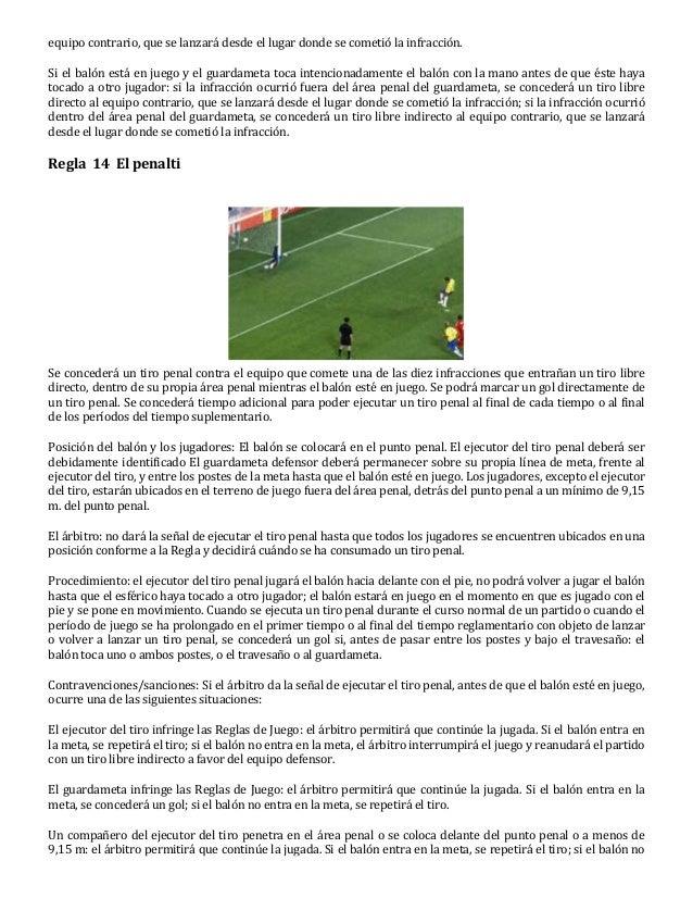 17 reglas futbol for Regla del fuera de lugar