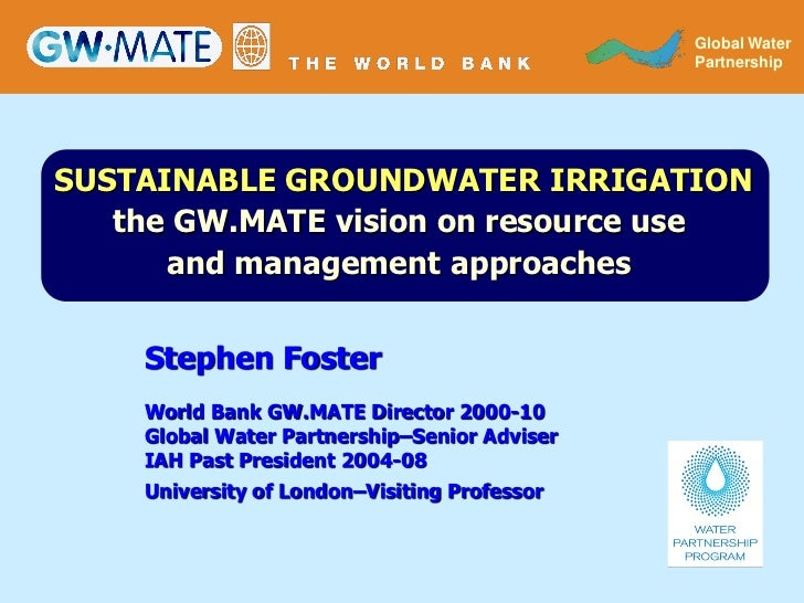 GLOBAL WATER                                                Global Water                                              PART...