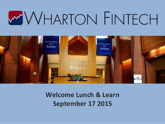 Welcome Lunch & Learn September 17 2015