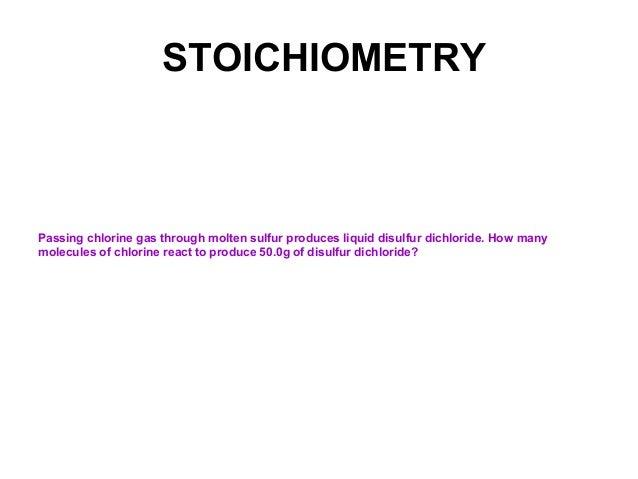 17 Stoichiometry