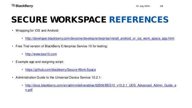 what makes up blackberry enterprise service 10 sharif penniman rh slideshare net VA eOPF Admin Guide VMware View 5 Admin Guide