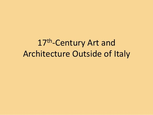 17th-Century Art and Architecture Outside of Italy